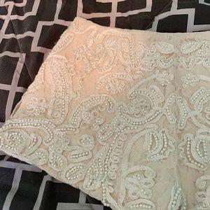 Zara short shorts - beaded with pearls